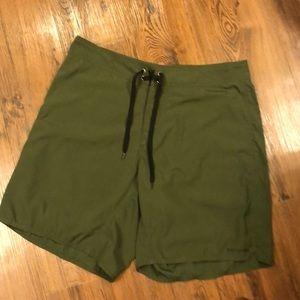 Patagonia green board/swim shorts